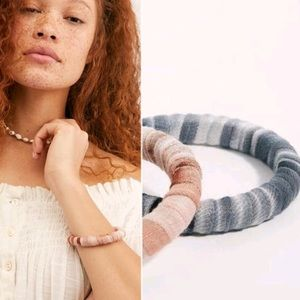 Free People Black Sunkissed Wrapped Bangle